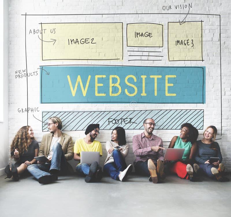 Begrepp för idéer för design för WebsiteHomepage svars- royaltyfri fotografi