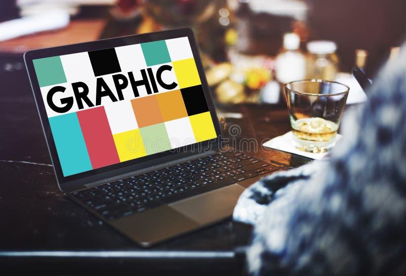 Begrepp för illustration för grafisk design idérikt visuellt royaltyfri bild
