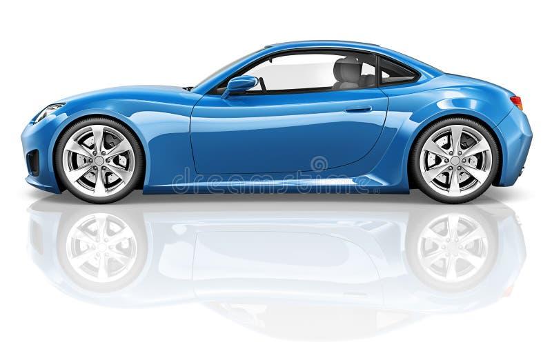 begrepp för illustration för trans. för medel för bil för sport 3D stock illustrationer