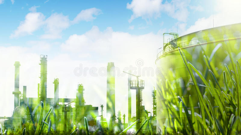Begrepp för industriell utveckling royaltyfri foto