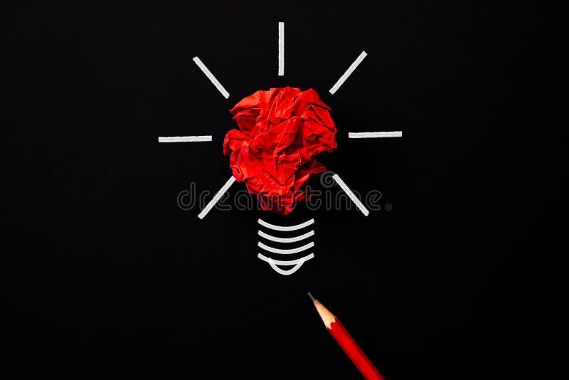 Begrepp för inspiration och för stor idé vektor för lampa för illustration för kulabegreppsidé arkivbild