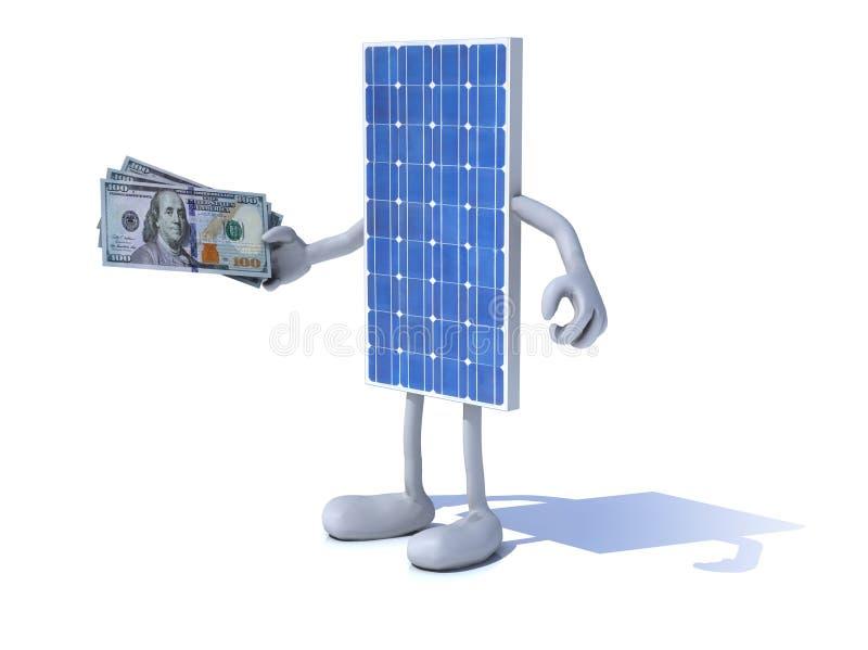 Begrepp för investering för sol- energi stock illustrationer