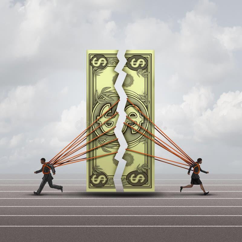 Begrepp för jämbördig lön royaltyfri illustrationer