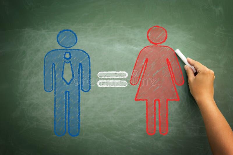 Begrepp för jämställdhetkvinnaman royaltyfri foto