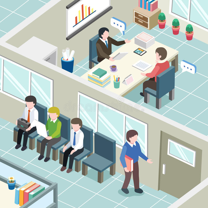 Begrepp för jobbintervju vektor illustrationer