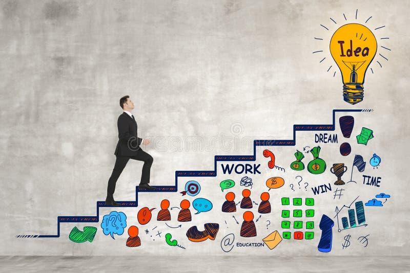 Begrepp för karriärutveckling och finans royaltyfri bild