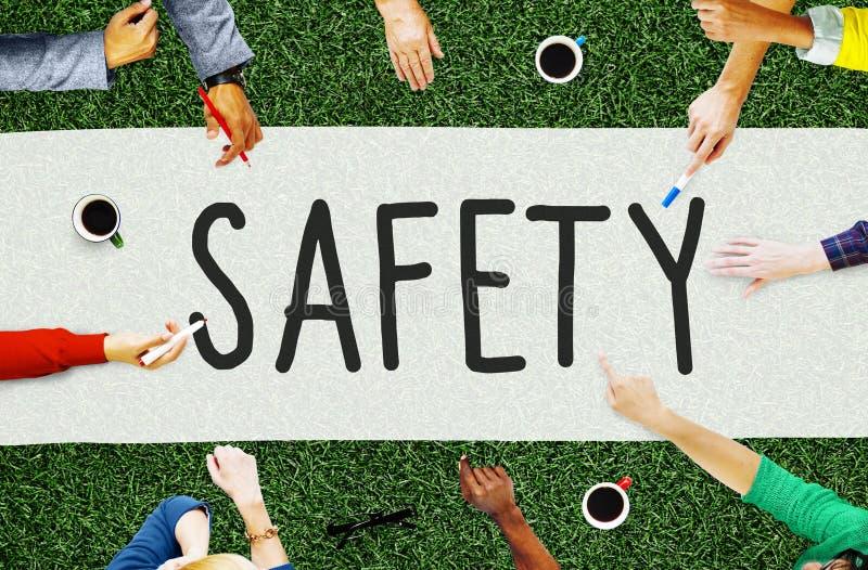 Begrepp för kassaskåp för säkerhet för nätverk för säkerhetsdataskydd royaltyfri fotografi