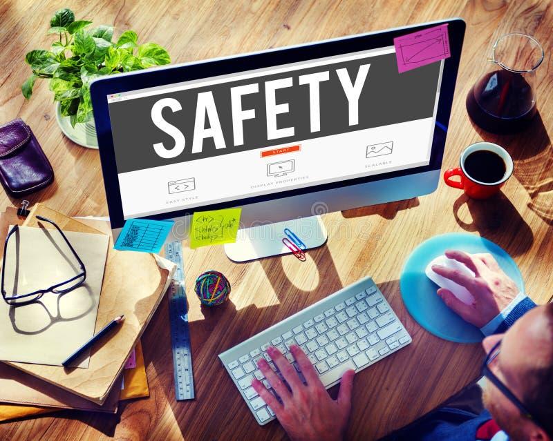 Begrepp för kassaskåp för säkerhet för nätverk för säkerhetsdataskydd royaltyfri foto