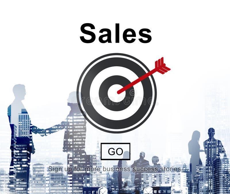 Begrepp för kommers för affär för försäljningsinkomstfinans arkivbilder