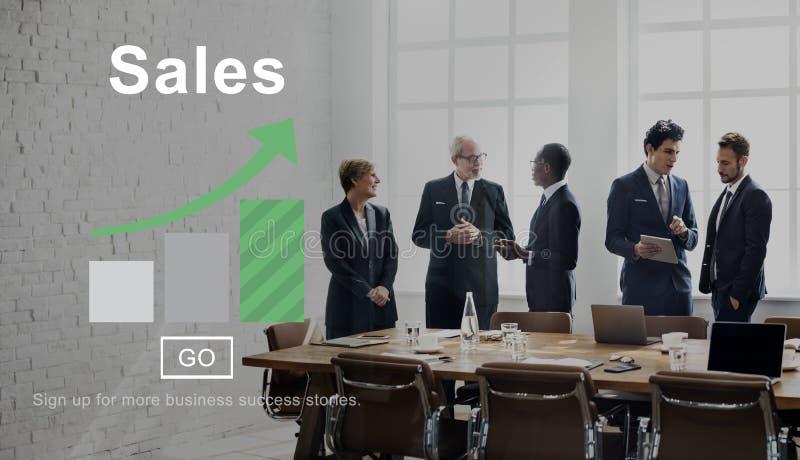 Begrepp för kommers för affär för försäljningsinkomstfinans arkivfoton