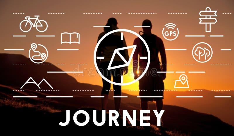 Begrepp för kompass för lopp för resasemesterferie stock illustrationer