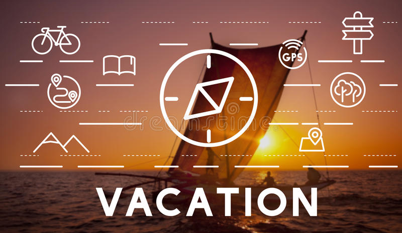 Begrepp för kompass för lopp för resasemesterferie royaltyfri illustrationer
