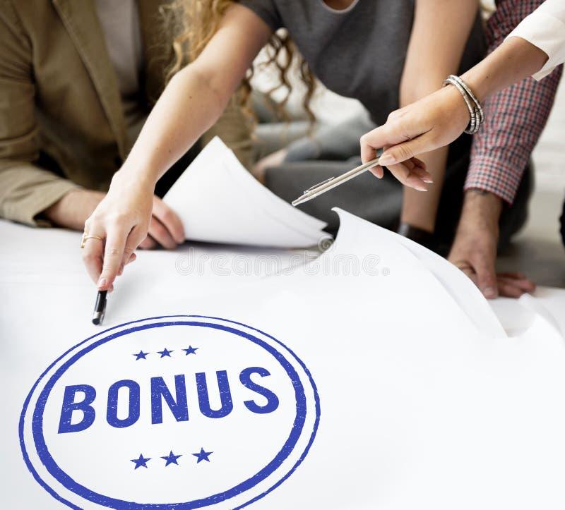 Begrepp för kompensation för incitament för bonusprisvinst extra royaltyfria foton