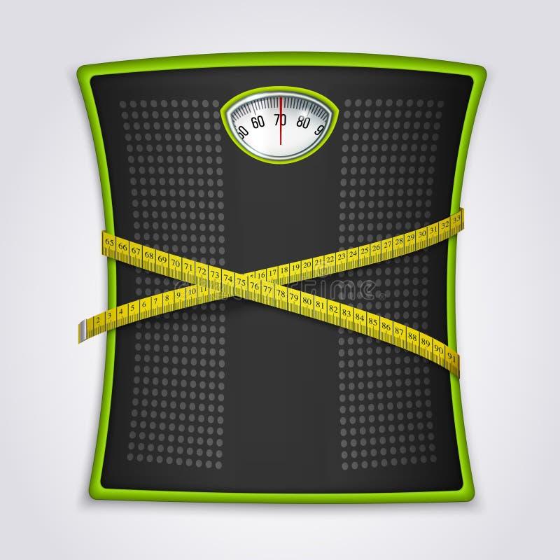 Begrepp för kondition för viktförlust realistiskt royaltyfri illustrationer