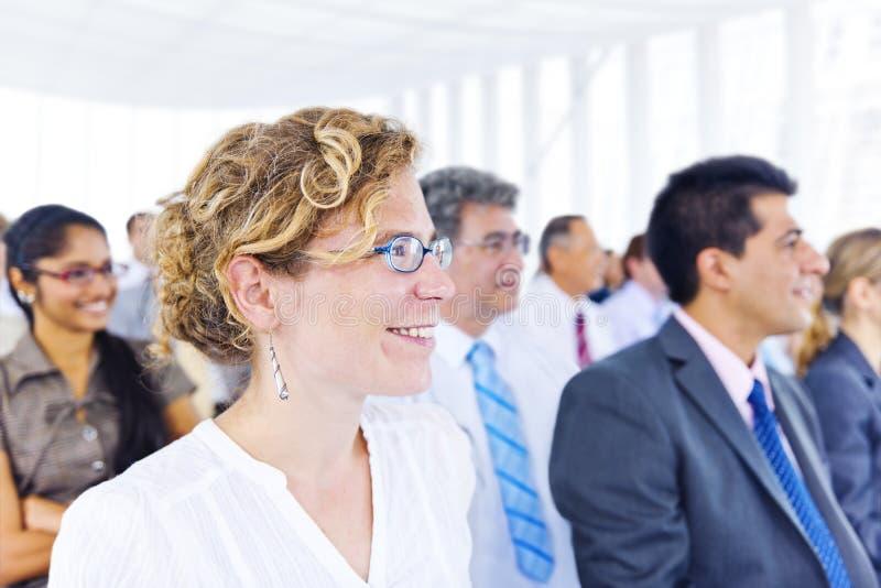 Begrepp för konferens för seminarium för affärsfolk företags arkivbild