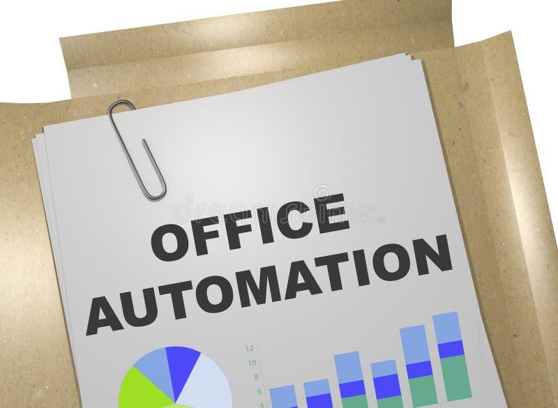 Begrepp för kontorsautomation stock illustrationer
