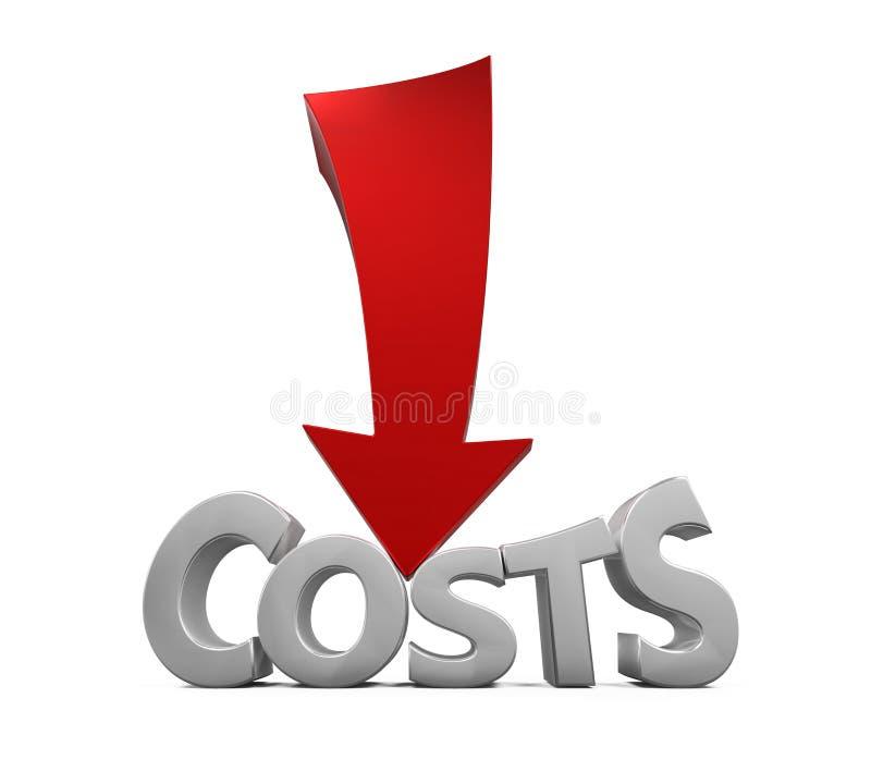 Begrepp för kostnadsförminskning stock illustrationer