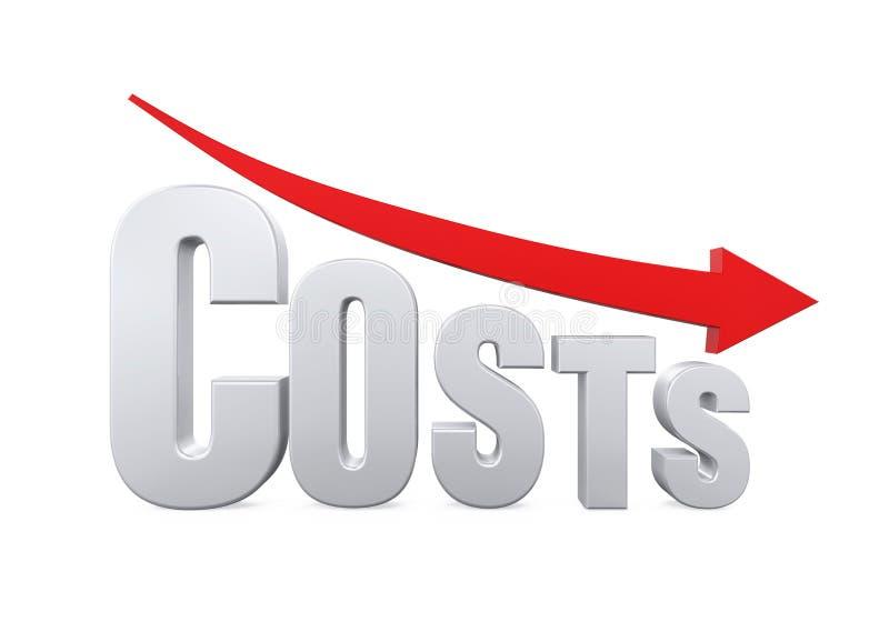Begrepp för kostnadsförminskning royaltyfri illustrationer