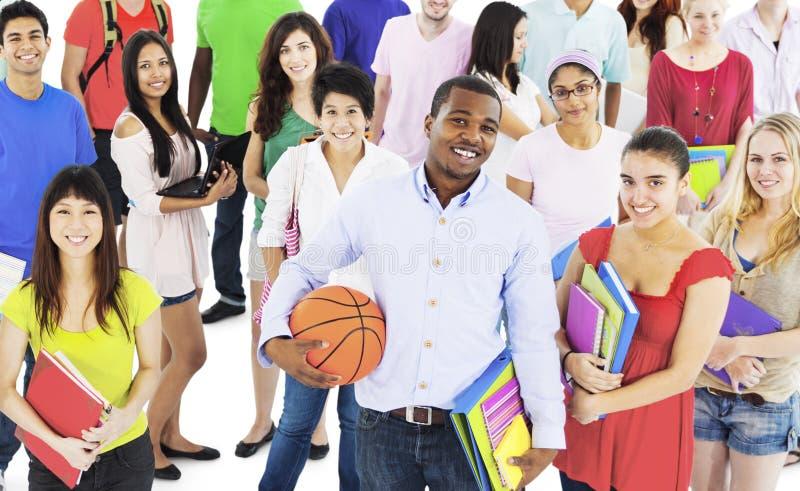 Begrepp för kultur för ungdom för folk för studenthögskolahögstadium fotografering för bildbyråer