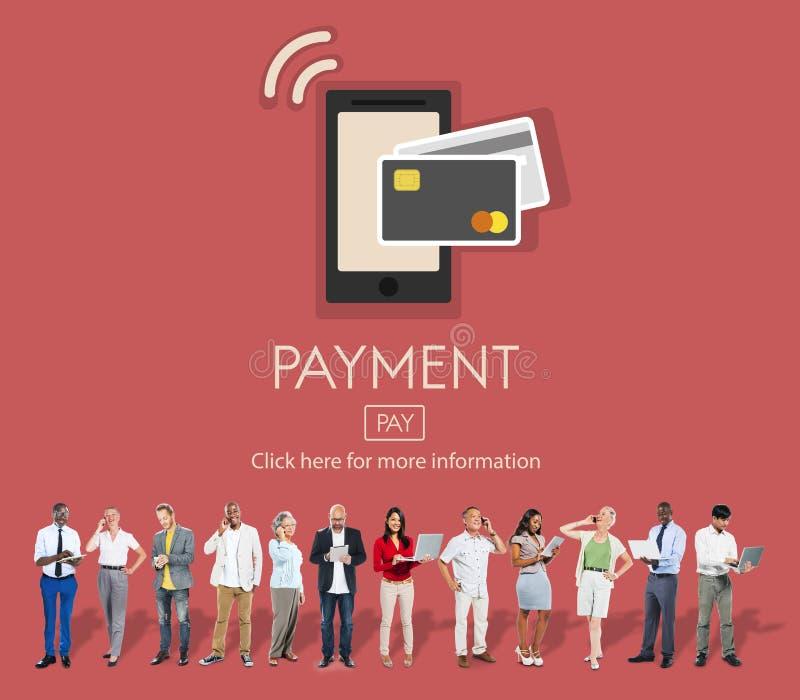 Begrepp för kund för kreditering för bankrörelsen för betalninglönjämvikt royaltyfri fotografi
