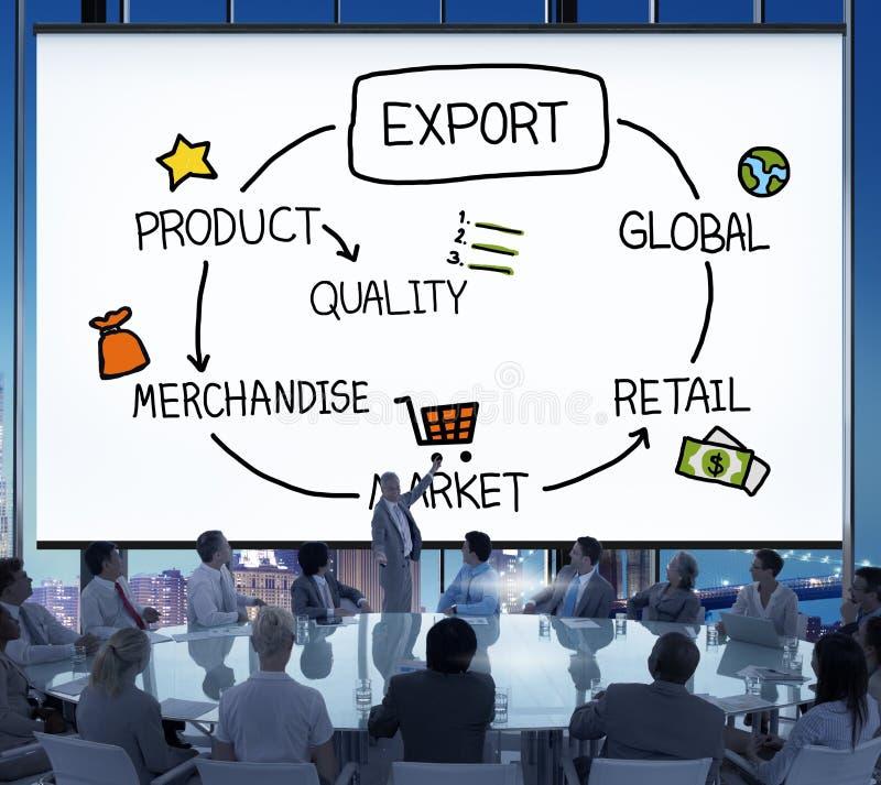 Begrepp för kvalitet för detaljhandel för exportproduktvaror royaltyfria bilder