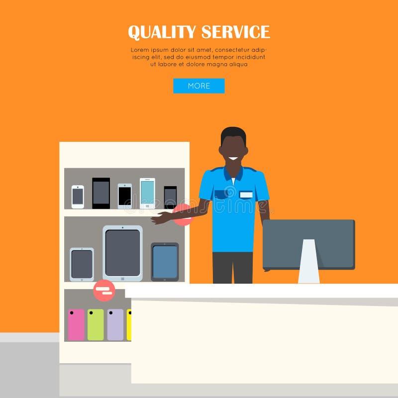 Begrepp för kvalitets- service royaltyfri illustrationer