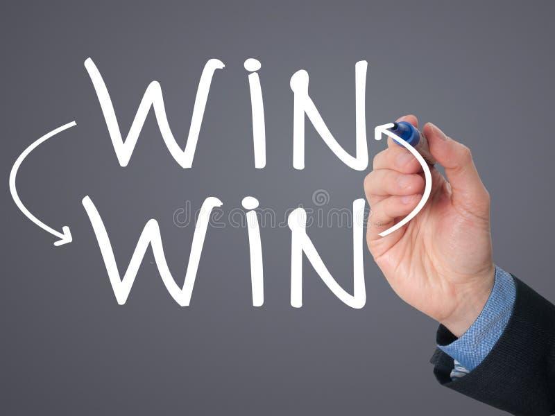 Begrepp för läge för seger för seger för affärsmanhandteckning med markörnolla stock illustrationer