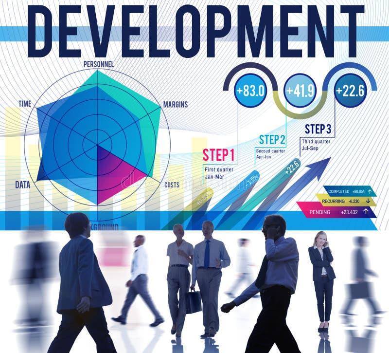 Begrepp för lösning för förbättring för utvecklingsmåltillväxt royaltyfria foton
