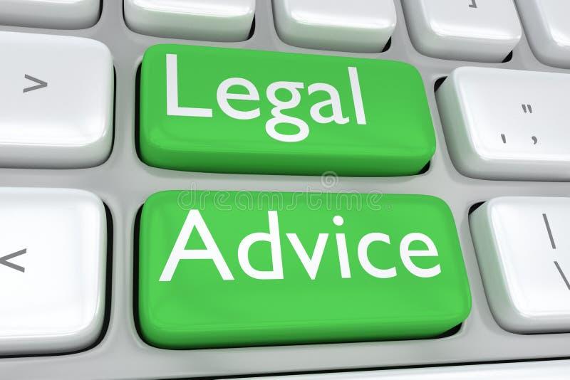 Begrepp för laglig rådgivning royaltyfri illustrationer