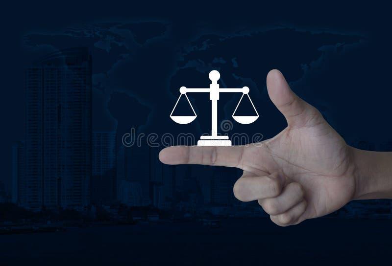 Begrepp för laglig service för affär, beståndsdelar av detta möblerad bild royaltyfri fotografi