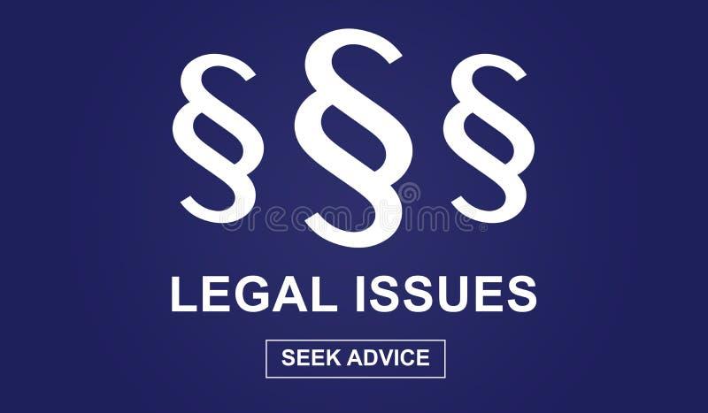 Begrepp för lagliga frågor stock illustrationer