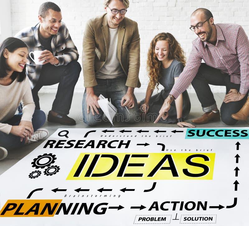 Begrepp för ledning för handling för idéframgångplanläggning royaltyfri bild