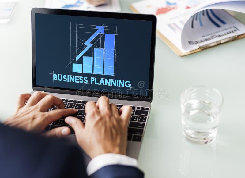 Begrepp för ledning för marknadsföring för planläggning för företags affär för märke royaltyfri foto