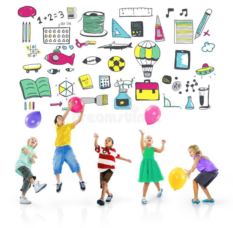 Begrepp för lek för fritid för hobby för sport för skolaaktivitet arkivbild