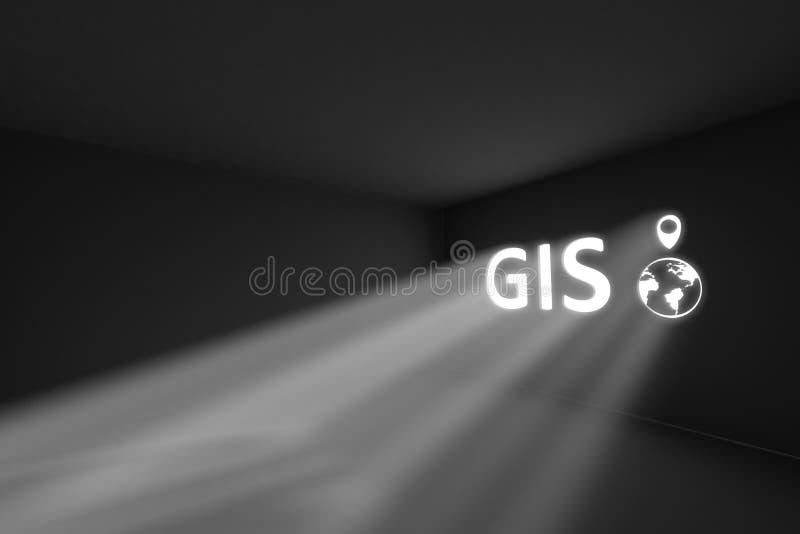 Begrepp för ljus för GISstrålvolym royaltyfri illustrationer