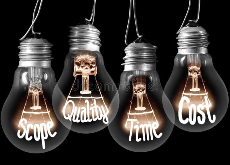 Begrepp för ljusa kulor arkivfoton