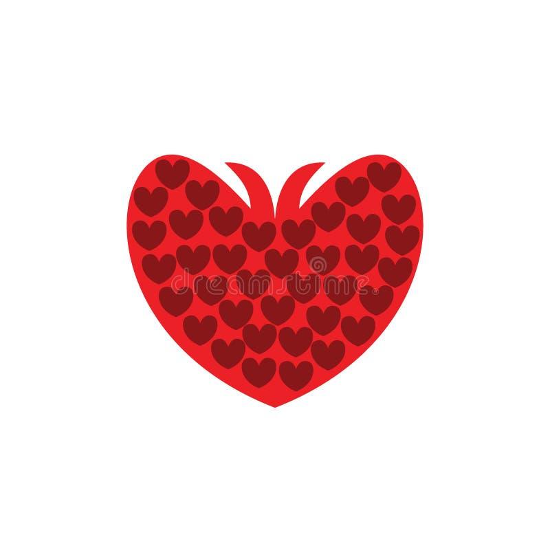 Begrepp för logo för förälskelsefruktillustrationer royaltyfri illustrationer