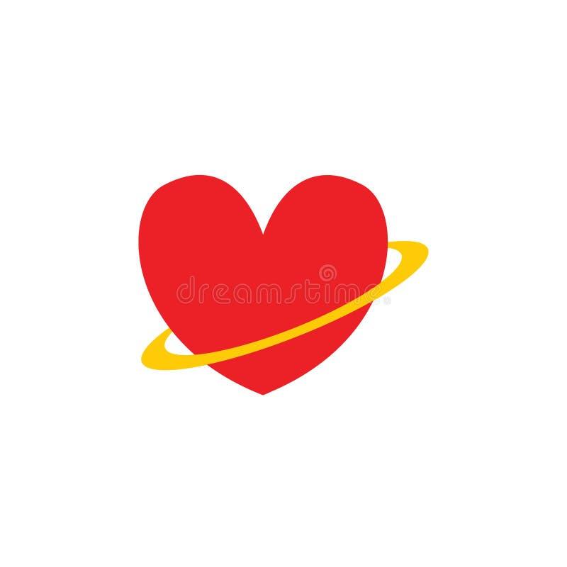 Begrepp för logo för illustrationer för förälskelse-/hjärtasymbolstecken stock illustrationer