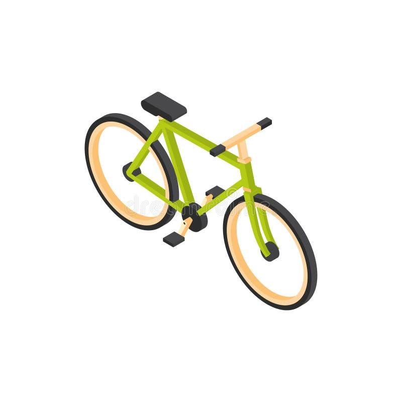 Begrepp för lopp för berg för cykelsymbol isometriskt isolerat stock illustrationer