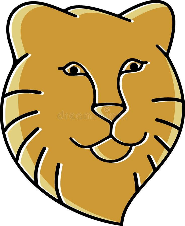 Begrepp för märke för design för lejonhuvudlogo vektor illustrationer