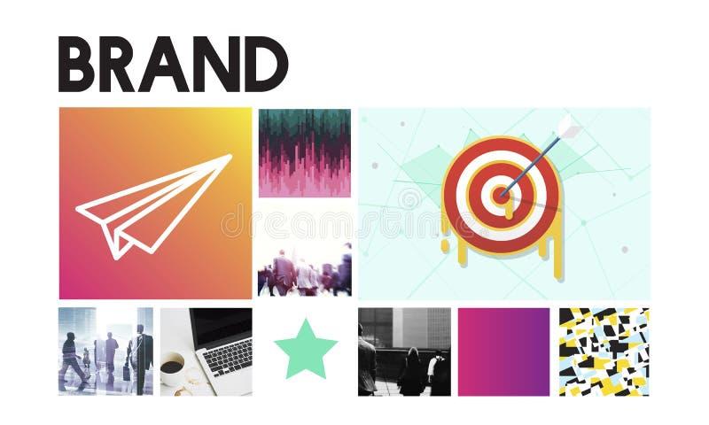 Begrepp för märke för framgång för lansering för målmål Startup vektor illustrationer