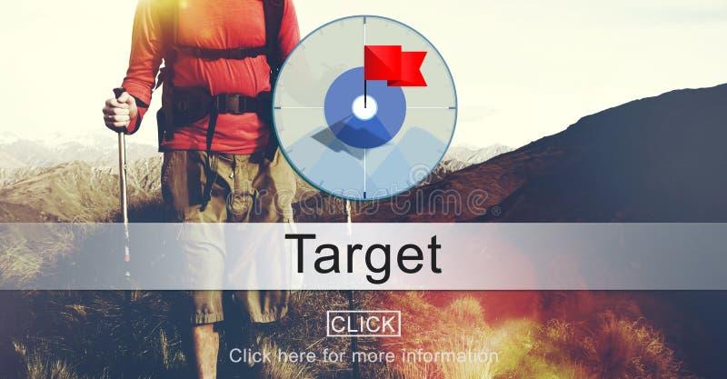 Begrepp för mål för beskickning för målsyfteavsikt arkivbild