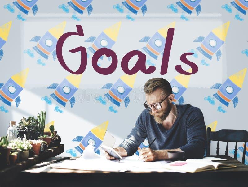 Begrepp för mål för inspiration för drömmar för målsyfteambition arkivbilder