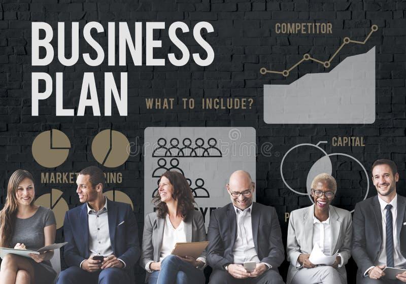 Begrepp för mål för strategi för affärsplan arkivbild