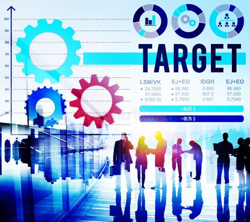 Begrepp för mål för vision för framgång för målbeskickninglösning arkivfoton