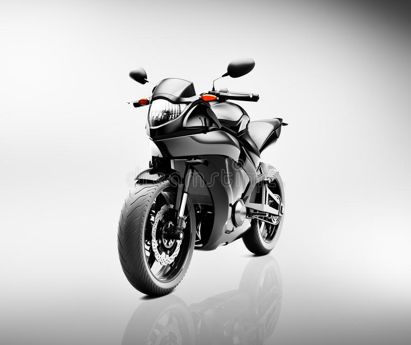 Begrepp för medel för Brandless motorcykelmoped stock illustrationer