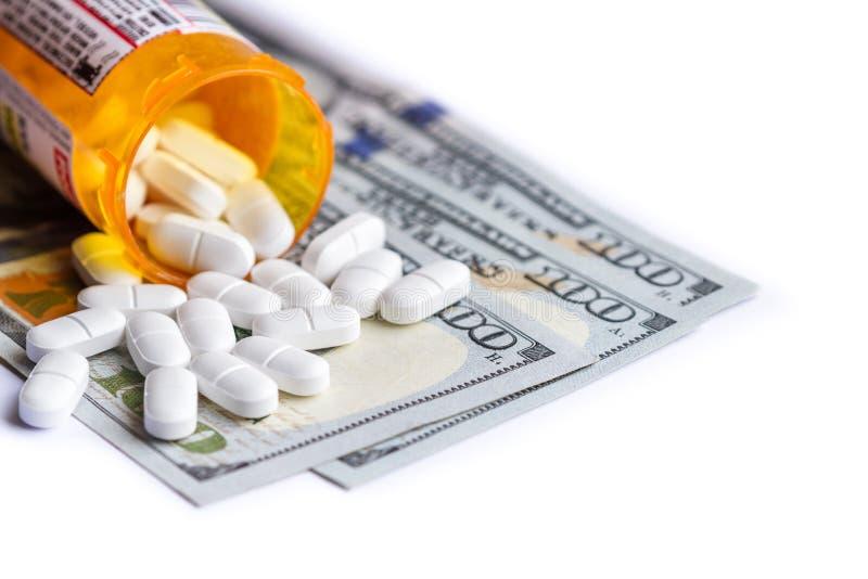 Begrepp för medicinska kostnader arkivfoton
