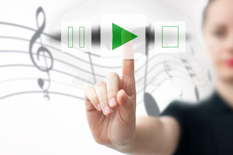 Begrepp för musikspelare royaltyfria bilder