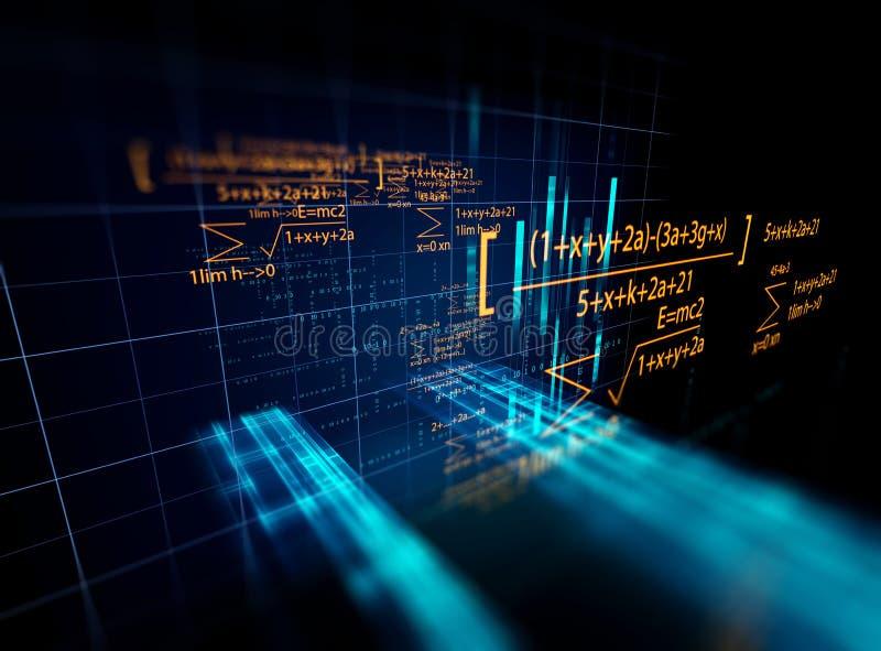 Begrepp för nätverk för kvarterkedja på teknologibakgrund royaltyfri illustrationer