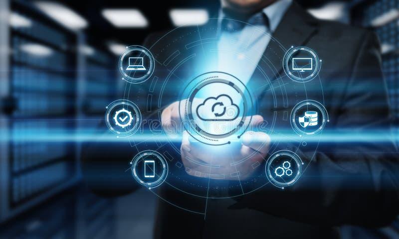 Begrepp för nätverk för lagring för internet för molnberäkningsteknologi royaltyfri fotografi